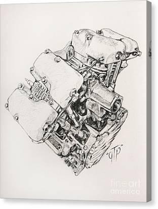 Split Rocker Shovel Canvas Print by George Frizzell