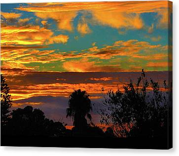 Canvas Print featuring the photograph Split Sunset by Mark Blauhoefer