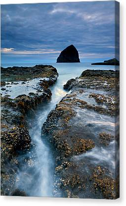 Oregon Coast Canvas Print - Splitting Stone by Mike  Dawson