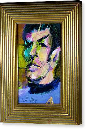 Spock Canvas Print by Les Leffingwell