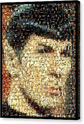 Spock Star Trek Mosaic Canvas Print by Paul Van Scott
