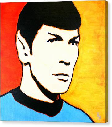Spock Vulcan Star Trek Pop Art Canvas Print by Bob Baker