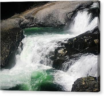 Spokane Water Fall Canvas Print by Anthony Jones