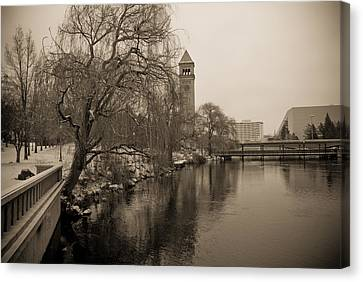 Spokane Winter Canvas Print