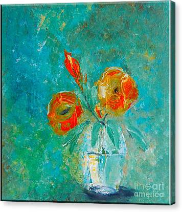 Palette Knife Floral Canvas Print by Lisa Kaiser