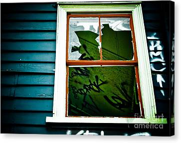 Canvas Print featuring the photograph Spooky Abandoned House by Yurix Sardinelly