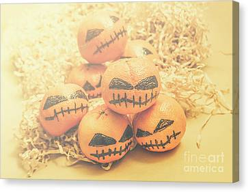 Creepy Canvas Print - Spooky Halloween Oranges by Jorgo Photography - Wall Art Gallery