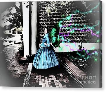 Spooky Historic Butterfly Dahlonega  Canvas Print