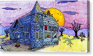 Spooky House Canvas Print