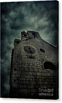 Spooky Medieval Church Canvas Print by Mythja Photography