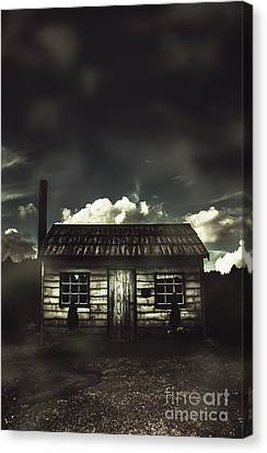 Spooky Old Abandoned House In Dark Forest Canvas Print by Jorgo Photography - Wall Art Gallery