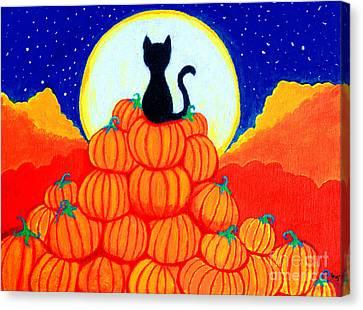 Spooky The Pumpkin King Canvas Print by Nick Gustafson