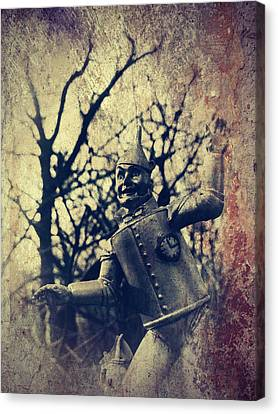 Spooky Tin Man Wizard Of Oz Canvas Print by Aurelio Zucco