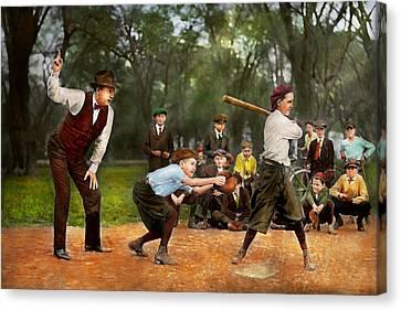 Sport - Baseball - Strike One 1921 Canvas Print