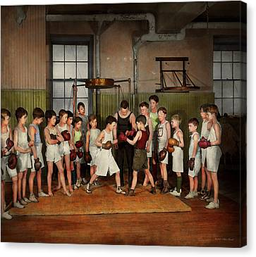 Canvas Print featuring the photograph Sport - Boxing - Fists Of Fury 1924 by Mike Savad