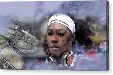 Venus Williams Canvas Print - Sports 21 by Jani Heinonen