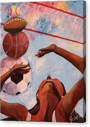 Sports Arena Canvas Print by Sarabjit Singh