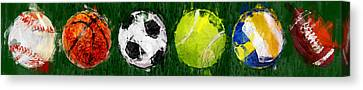 Sports Balls Abstract Canvas Print
