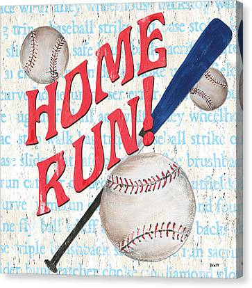 Sports Fan Baseball Canvas Print by Debbie DeWitt
