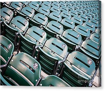 Ballpark Canvas Print - Sports Stadium Seats Photo by Paul Velgos