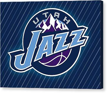 Sports Utah Jazz                    Canvas Print by F S