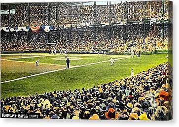 Sportsman's Park In St. Louis Mo 1943 Canvas Print by Dwight Goss