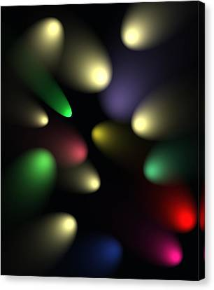Canvas Print featuring the digital art Spotlight Illusion by Saad Hasnain