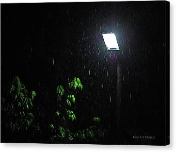 Lamp Post Canvas Print - Spotlight Of Tears by DigiArt Diaries by Vicky B Fuller