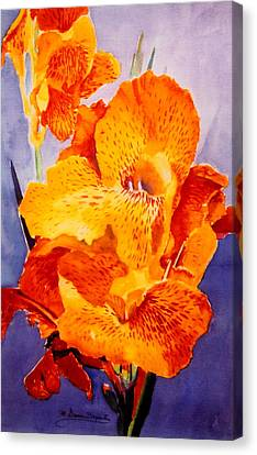 Spotted Canna Canvas Print by M Diane Bonaparte