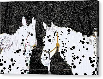 Spotted Horses Canvas Print by Ericamaxine Price