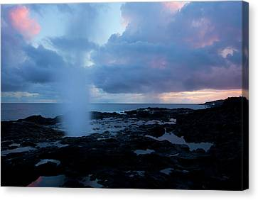 Blowhole Canvas Print - Spouting Horn Sunset by Mike  Dawson