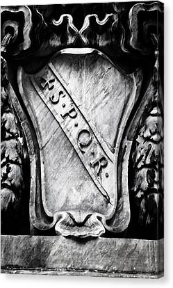Spqr Canvas Print by Joana Kruse