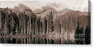 Canvas Print featuring the photograph Sprague Lake Morning by Thomas Bomstad