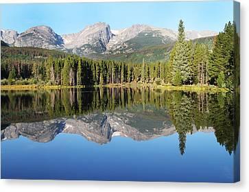 Sprague Lake Rocky Mountains Canvas Print by David Yunker