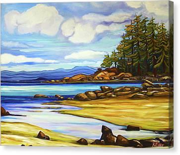 Hornby Island Canvas Print - Spray Point Vista by Karen Elder