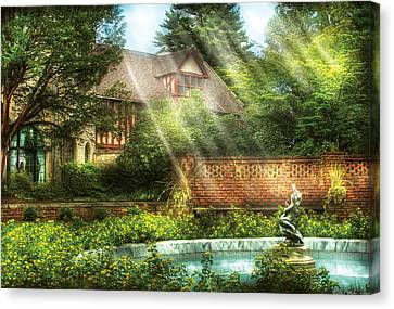 Spring - Garden - The Pool Of Hopes Canvas Print by Mike Savad