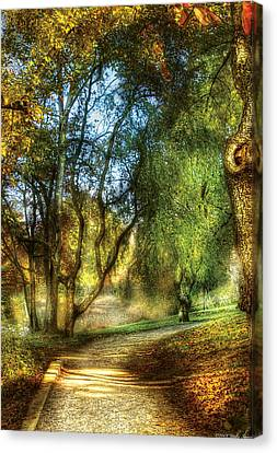 Spring - Landscape - My Journey My Path Canvas Print by Mike Savad