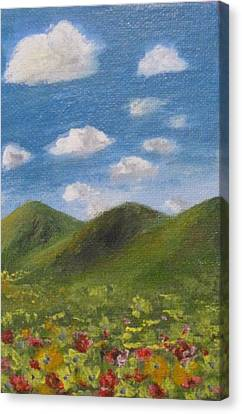 Canvas Print featuring the painting Spring 2009 by Trilby Cole