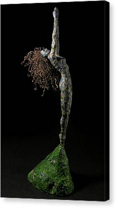 Black People Canvas Print - Spring A Sculpture By Adam Long by Adam Long