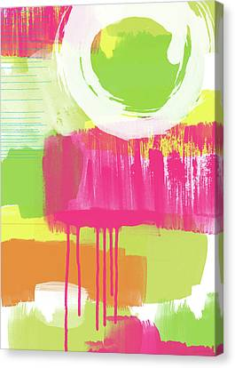 Spring Abstract- Art By Linda Woods Canvas Print by Linda Woods
