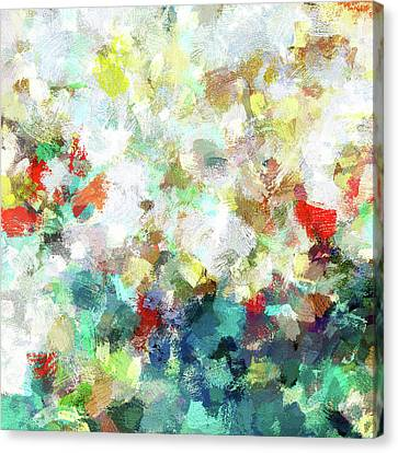 Canvas Print featuring the painting Spring Abstract Art / Vivid Colors by Ayse Deniz