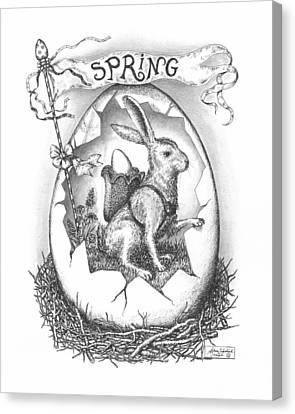 Spring Arrives Canvas Print by Adam Zebediah Joseph