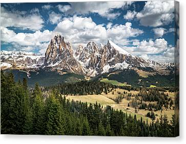 Spring At Alpe Di Suisi Canvas Print by James Udall