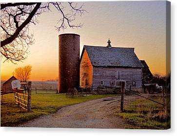 Spring At Birch Barn Canvas Print by Bonfire Photography