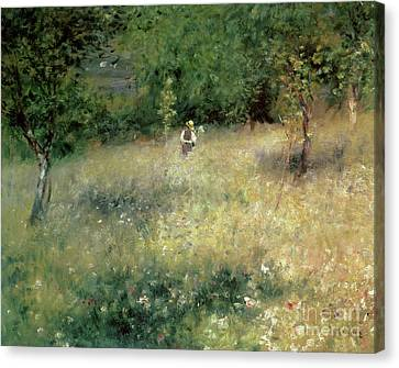 Spring At Chatou Canvas Print by Pierre Auguste Renoir