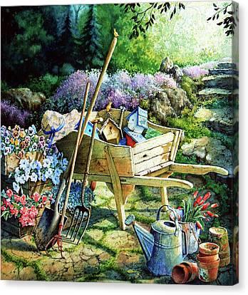 Garden Art Canvas Print - Spring At Last by Hanne Lore Koehler