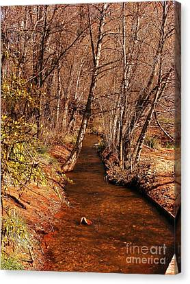 Spring At Red Rock Crossing Canvas Print by Marilyn Smith