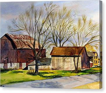 Spring At The Farm Canvas Print by Tina Storey