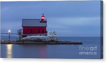 Spring At The Outer Range Light Canvas Print by Twenty Two North Photography