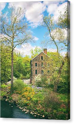 Spring At The Stone Mill  Canvas Print by Jessica Jenney